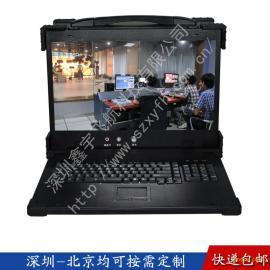 19寸下翻4U工业便携机机箱定制军工电脑外壳铝加固笔记本