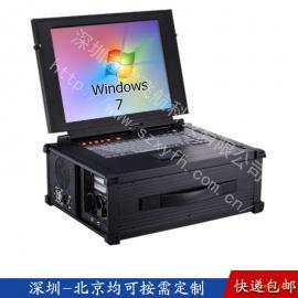 15寸4U工业便携机机箱定制一体机视频采集军工笔记本电脑