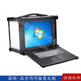 CPCI工业便携机机箱定制军工电脑加固笔记本外壳铝工控一体