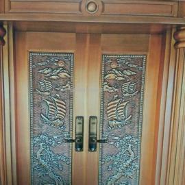 别墅入户门用什么材质好-首选聚福纯铜门