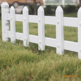 厂家直销绿化带锌钢护栏@pvc塑钢草坪围栏小区庭院防护栅栏