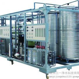 三一科技工业超纯水设备 2吨双级反渗透设备+EDI超纯水设备行业精