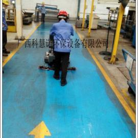 柳州洗地机专用于机械厂油污地面清洗洗扫一体