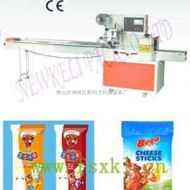 儿童奶酪干酪条包装机,80克装干奶酪条自动包装机械