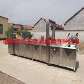 昊东供应凤尾虾油炸加工成套设备 电加热凤尾虾油炸机