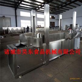 昊东热卖毛毛鱼加工成套油炸设备 燃气式毛毛鱼油炸机