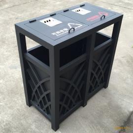 绿岚供应高档欧式铸铝垃圾桶 别墅室外铝合金分类垃圾桶