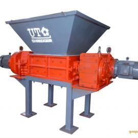 联泰双轴撕碎机D32100纸厂绞绳回收处理