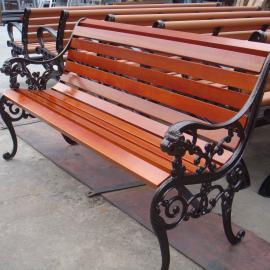 中山实木长椅