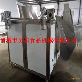 油水混合豆腐块油炸机 电加热豆腐块油炸设备