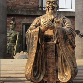 东莞原著孔子雕塑厂家供应玻璃钢孔子雕塑 学校雕塑摆件