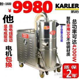 4200w标准电池式吸尘器厂房用吸尘器正规仓库用工业吸尘器交直流两用