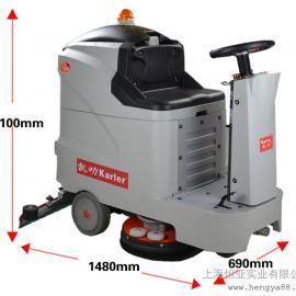 驾驶式洗地机工厂商场超市酒店用全自动洗地车刷地机HY660