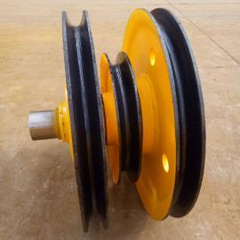 起重吊钩专用滑轮组批发32t铸钢材质滑轮组直销山东