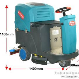 上海物业保洁洗地吸干机小型洗地车驾驶式工业洗地拖地机