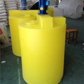 加药箱搅拌机 加药搅拌箱500L化工桶
