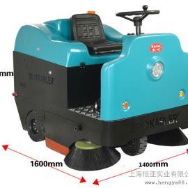 电瓶工业扫地机工厂车间地面扫地机驾驶式清扫车KL1400