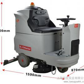 工业电瓶式洗地机工厂手推式双刷机驾驶式清洗车洗地吸干机