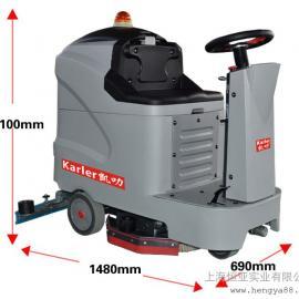 驾驶式洗地机工厂全自动电动洗地车仓库商场车间刷地机K5