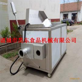自动出料藕片油炸机 燃气式藕片油炸设备