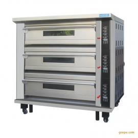 新麦三层六盘天燃气烤箱