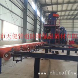 【厂家供应】管道多管外抛丸除锈生产线 管道 除锈设备