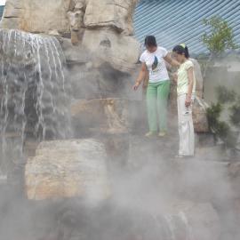 假山景观造雾设备假山人造雾水雾造景西南锦胜创优专业生产厂家