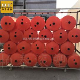昌黎县水面悬浮式塑料浮筒 河道拼接式拦污栅