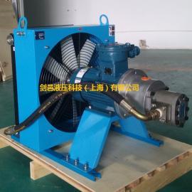 剑邑牌ELZX-6-A3防爆电机型自吸循环式液压风冷却器