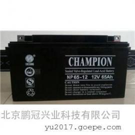 CHAMPION蓄电池NP65-12阀控式12V65AH蓄电池规格
