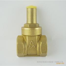 正品埃美柯115黄铜带锁防盗闸阀 锁闭阀 带钥匙闸阀Z15W-16T