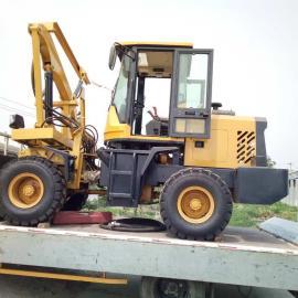 成都装载式护栏打桩机/四轮大功率