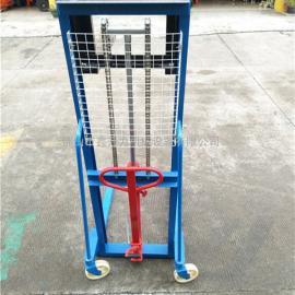 手动液压堆高车托盘升高车装卸车叉车液压地1吨1.5吨