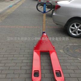 鸿福手动叉车3吨,外宽520MM,叉长800-2000MM