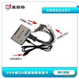 美菲特M1308 8路USB音视频监控采集卡,配套监控软件