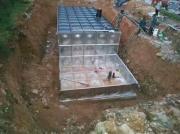 安徽天长地埋水箱价格 电机长轴深井泵 地埋式消防水池泵站