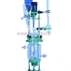 小型GSFT-5L 实验室变频调速双层玻璃反应釜水热合成