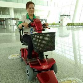 凯叻尘推车驾驶式电动高铁车站用尘推车商场酒店用电瓶式尘推车