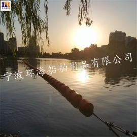 内江电厂水域挡垃圾浮排