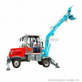 天津小型挖掘机轮式挖掘机农用挖掘机厂家