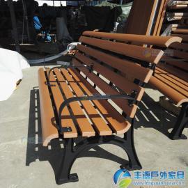 塑木小区休闲长椅