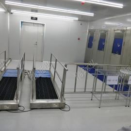 风淋室与鞋底清洗机结合使用