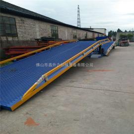 移动式登车桥上货台集装箱叉车装卸上车辅助平台设备仓储码头
