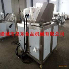 电加热油炸优质茄盒油炸机 连续式茄盒加工成套设备