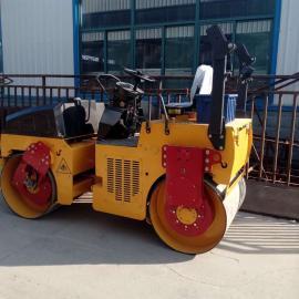双钢轮3吨压路机小型路面压实回填土压路机