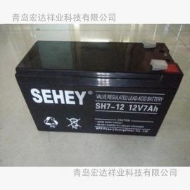SEHEY/西力蓄电池SH4-12正品12V4AH阀控铅酸蓄电池