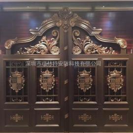 惠州聚福豪门铝艺别墅门生产安装 服务周到
