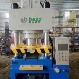 厂家直销双动钢背快速成型液压机可非标定制柏浚精机钢背机行业领
