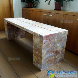 广州市大理石公园长凳