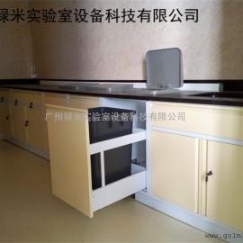 全钢实验台配垃圾桶 尺寸可定制 禄米实验室设备